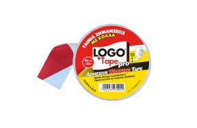 SELF ADHESIVE LOGO TAPE RED-WHITE